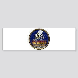 US Navy Seabees Lava Glow Sticker (Bumper)