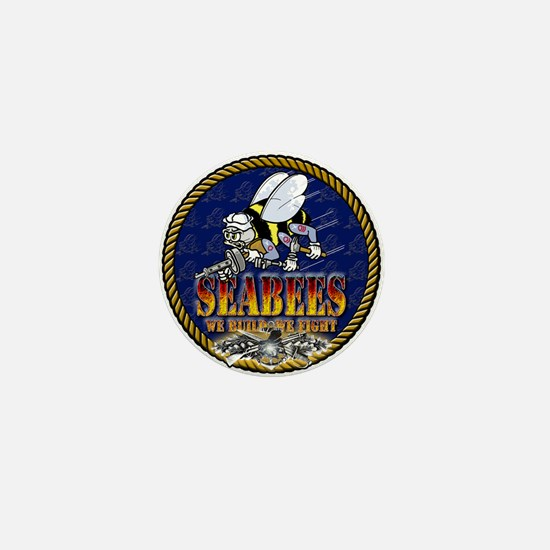 US Navy Seabees Lava Glow Mini Button