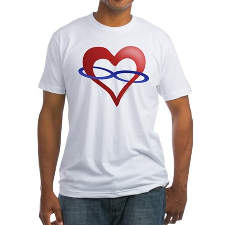 Infinite Love Heart Fitted T-Shirt