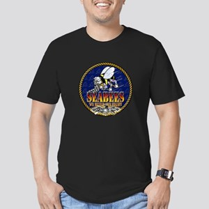 US Navy Seabees Lava Glow Men's Fitted T-Shirt (da