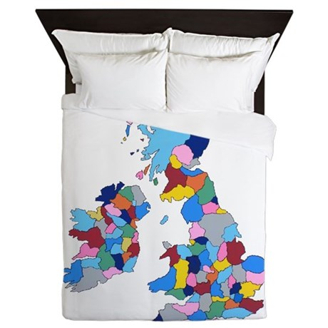 England Ireland Scotland Wales Queen Duvet By