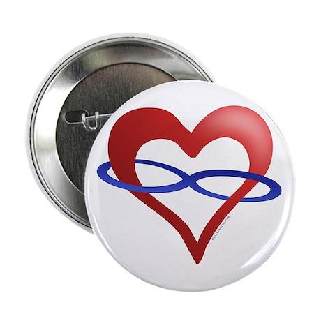 Infinite Love Heart Button
