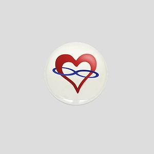 Infinite Love Heart Mini Button
