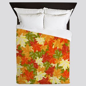 FALL LEAVES Queen Duvet