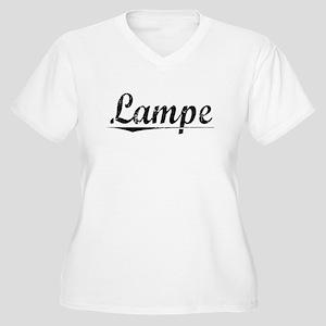 Lampe, Vintage Women's Plus Size V-Neck T-Shirt
