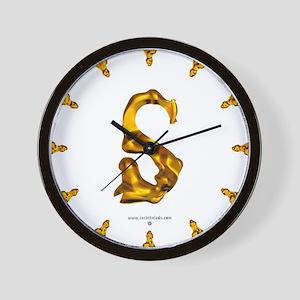 Blown Gold S Wall Clock
