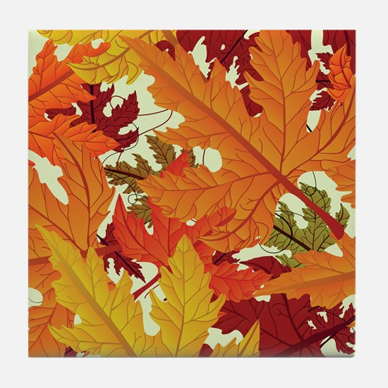 FALL LEAVES Tile Coaster