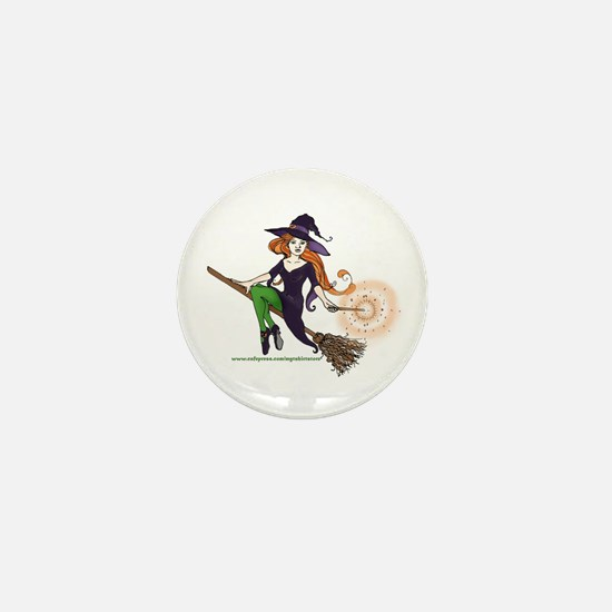 the redheaded witch Mini Button