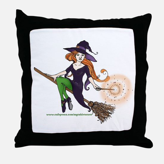 the redheaded witch  Throw Pillow
