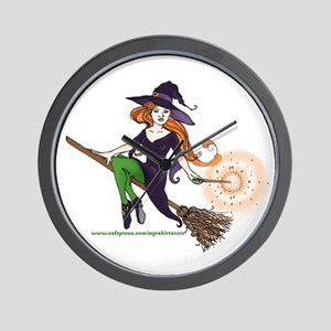 the redheaded witch  Wall Clock
