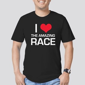 I Love The Amazing Race Men's Fitted T-Shirt (dark