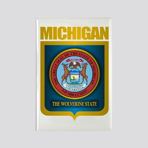 Michigan Gold Label Rectangle Magnet