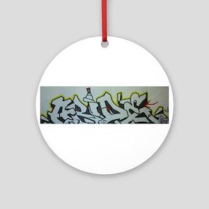 graffiti/art t-shirt Ornament (Round)