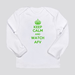 Keep Calm and Watch AFV Long Sleeve Infant T-Shirt