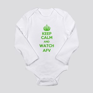 Keep Calm and Watch AFV Long Sleeve Infant Bodysui