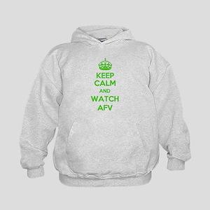 Keep Calm and Watch AFV Kids Hoodie