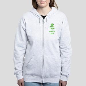 Keep Calm and Watch AFV Women's Zip Hoodie