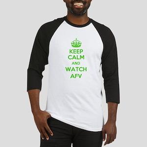 Keep Calm and Watch AFV Baseball Jersey