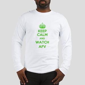 Keep Calm and Watch AFV Long Sleeve T-Shirt