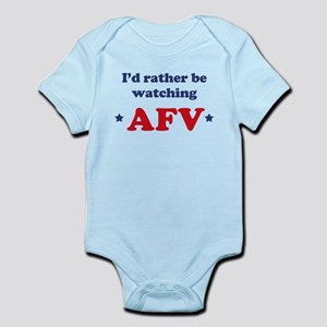 Id rather be watching AFV Infant Bodysuit