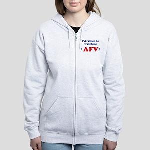 Id rather be watching AFV Women's Zip Hoodie