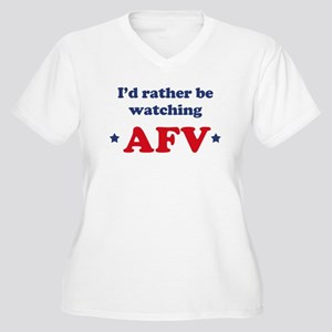 Id rather be watching AFV Women's Plus Size V-Neck