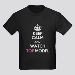 Keep Calm and Watch Top Model Kids Dark T-Shirt