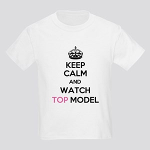 Keep Calm and Watch Top Model Kids Light T-Shirt