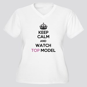 Keep Calm and Watch Top Model Women's Plus Size V-