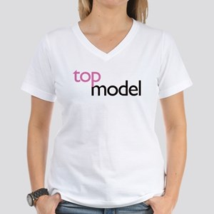 Top Model Women's V-Neck T-Shirt