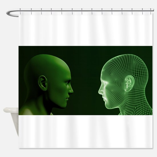 Ethics in Technology Shower Curtain
