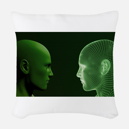 Ethics in Technology Woven Throw Pillow