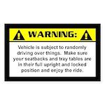 Jeep Warning Rectangle Sticker