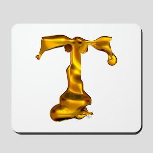 Blown Gold T Mousepad