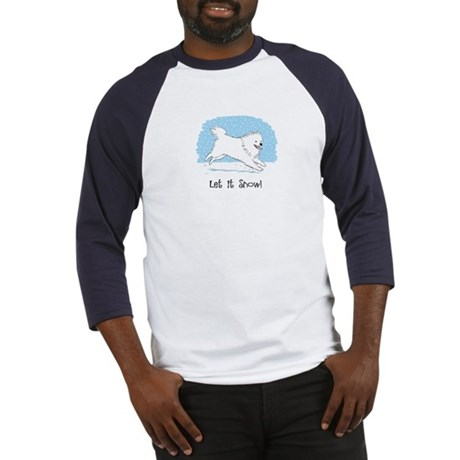Eskie Let it Snow Dog Baseball Jersey