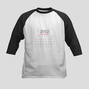 December 2012 Calendar Kids Baseball Jersey