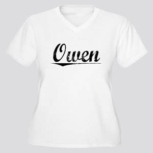 Owen, Vintage Women's Plus Size V-Neck T-Shirt