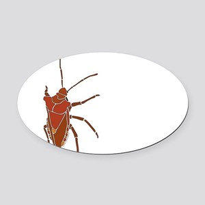 Big Stink Bug Oval Car Magnet