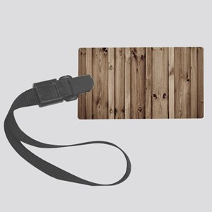 rustic farmhouse barn wood Large Luggage Tag