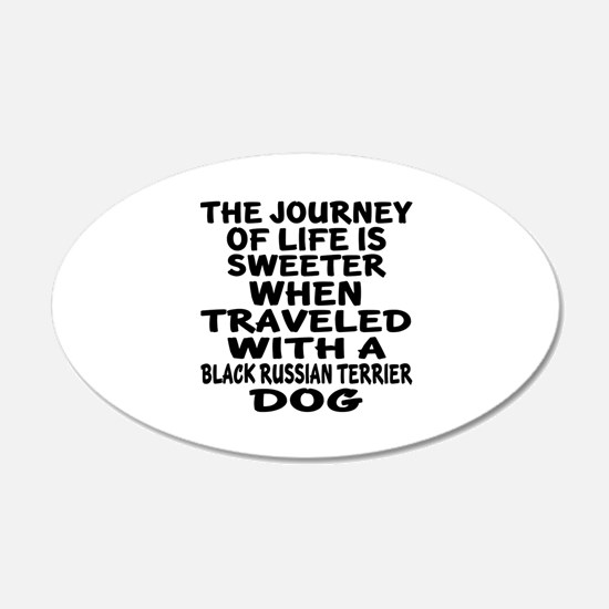 Traveled With Black Russian Wall Decal