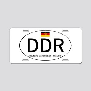 Car code DDR Aluminum License Plate