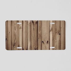 rustic farmhouse barn wood Aluminum License Plate