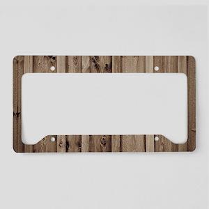rustic farmhouse barn wood License Plate Holder