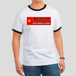 Boycott Red China Buy Made in Ringer T