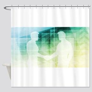 Silhouettes of Two Shower Curtain