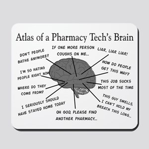 Atlas of a pharmacy techs brain Mousepad