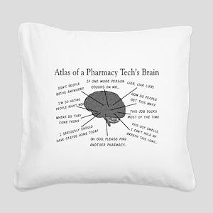 Atlas of a pharmacy techs brain Square Canvas