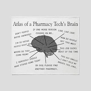 Atlas of a pharmacy techs brain Stadium Blank