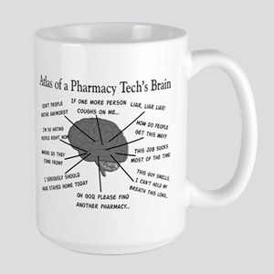 Atlas of a pharmacy techs brain Large Mug