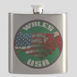 Wales USA Friendship Flask
